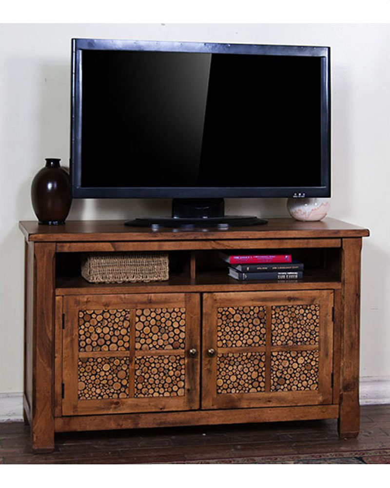 Rustic Oak Tv Console Sedona By Sunny Designs Su 3484rb