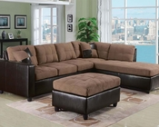 Saddle Finish Sectional Sofa Set Milano Chocolate by Acme AC51330SET