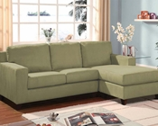 Sage Microfiber Sectional w/ Reversible Chaise Vogue by Acme AC05915A