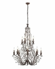 ELK Sagemore 12 Light Chandelier in Bronze Rust EK-18147-8-4