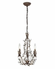 ELK Sagemore Collection 3 Light Chandelier in Bronze Rust EK-18142-3