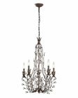 ELK Sagemore Collection 5 Light Chandelier in Bronze Rust EK-18143-5
