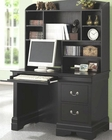 Saint Laurent Single Pedestal Computer Desk with Hutch CO20107