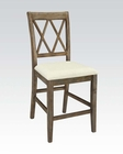Salvage Brown Counter Height Chair Claudia by Acme AC71722 (Set of 2)