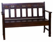 Santa Fe Bench w/ Storage by Sunny Designs SU-1594DC