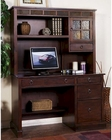 Santa Fe Single Pedestal Desk w/ Hutch by Sunny Designs SU-2968DC-H