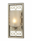 ELK Santa Monica Collection 1 light bath in Aged Silver EK-31426-1