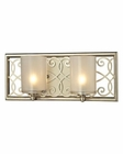 ELK Santa Monica Collection 2 light bath in Aged Silver EK-31427-2