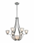 ELK Sculptive 9 Light Chandelier in Polished Chrome EK-11764-6-3