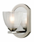 ELK Sculptive Collection 1 light bath in Polished Nickel/Matte Nickel EK-11595-1