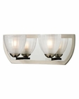 ELK Sculptive Collection 2 light bath in Polished Nickel/Matte Nickel EK-11596-2