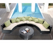 Sectional Patio Sofa Set in Modern Style 44P398