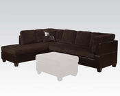 Sectional Sofa Connell Chocolate by Acme Furniture AC55975