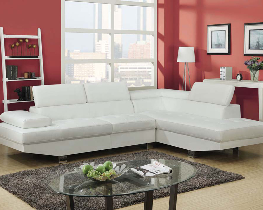 sectional sofa connor white by acme furniture ac51960 rh homefurnituremart com acme milano sectional sofa acme thelma sectional sofa