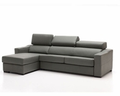 Sectional Sofa in Grey Leather 33LS241
