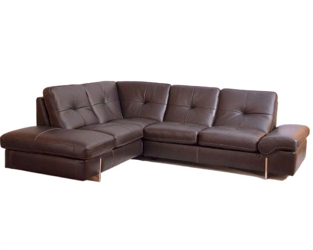Sectional sofa in italian leather 33ls221 for Leather sectional sofa