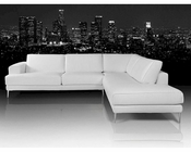 Sectional Sofa in Leather Made In Italy 44L5989