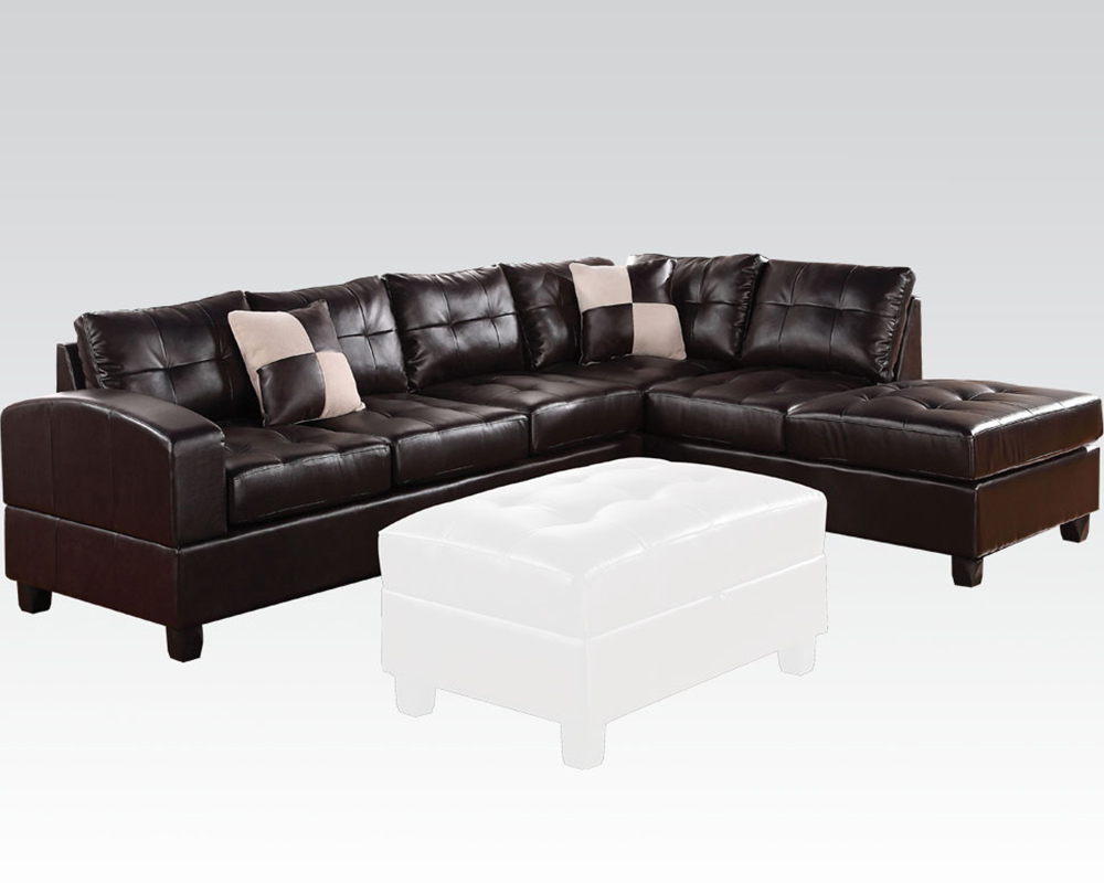 Sectional Sofa Kiva Espresso By Acme Furniture Ac51195