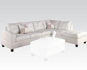 Sectional Sofa Kiva White by Acme Furniture AC51175