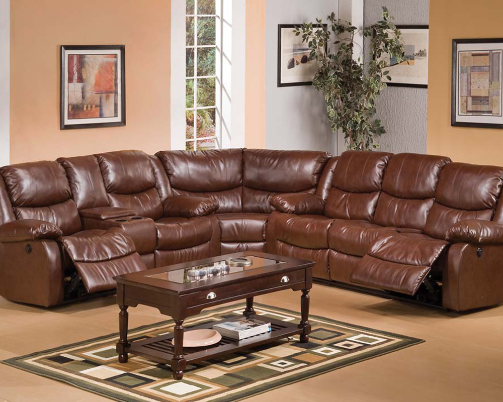 Sectional Sofa Set Fullerton Brown By Acme Furniture