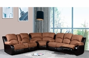 Sectional Sofa Set In Dark Brown Fabric MF-R2032L