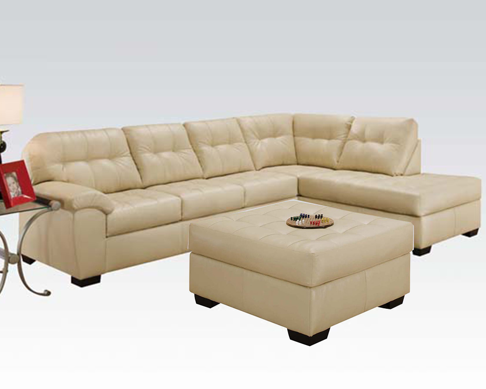 Sectional sofa set shi natural by acme furniture ac50625set for Sectional sofa set up