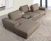 Sectional Sofa w/ Beverage Console and Adjustable Backrests 44L6001
