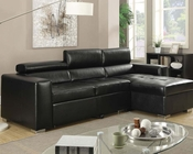 Sectional Sofa w/ Pull Out Bed Aidan by Acme AC51640