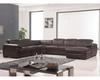 Sectional Sofa w/ Recliner in Brown Finish 33LS311