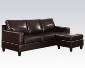 Sectional w/ Reversible Chaise Espresso Vogue by Acme AC15915A