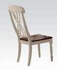 Side Chair in Buttermilk/ Oak by Acme AC70333 (Set of 2)