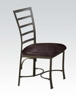 Side Chair in Chocolate Daisy by Acme Furniture AC70098 (Set of 2)