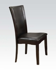 Side Chair in Espresso Malik by Acme Furniture AC70504 (Set of 2)
