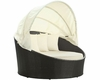 Outdoor Canopy Daybed in Espresso White by Modway MY-EEI-642EXPWHI