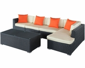 Signal Patio Sectional Set in Espresso White by Modway MY-EEI728