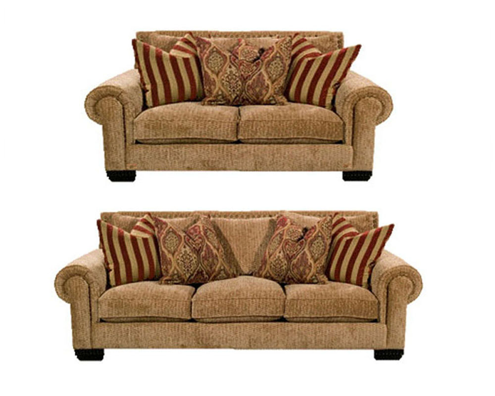 Signature traditional style sofa set james sijachset Couches and loveseats