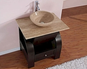 "Silkroad 30"" Single Sink Cabinet 7/8"" Travertine Top"