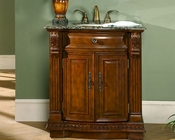 "Silkroad 33"" Single Sink Cabinet Baltic Brown Granite Top"