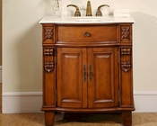 "Silkroad 33"" Single Sink Cabinet Crema Marfil Top"