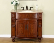 "Silkroad 36"" Single Sink Cabinet Travertine Top"