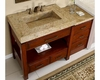 "Silkroad 56"" Single Sink Cabinett w/Drawer Bank Kashmir Gold Top"
