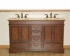 "Silkroad 60"" Double Sink Cabinet Travertine  Top"