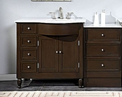 Silkroad Modular Vanity w/ White Marble Top SD-HYP-0902(RM)-UWC-58