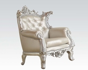 Silver Finish Accent Chair by Acme Furniture AC59125