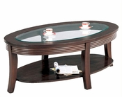 Simpson Coffee Table with Glass Top CO5525