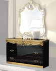 Single Dresser Black Baroque Classic Style Made in Italy 33B437