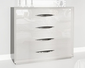 White Single Dresser in Modern Style Carmen 33151CA