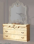Single Dresser Ivory Baroque Classic Style Made in Italy 33B417