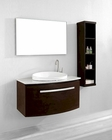 Single Vanity Set in Walnut Anabelle by Virtu USA VU-ES-1040-Q-WA