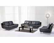 Six-Seater Leather Sofa Set in Contemporary Style 44L6088